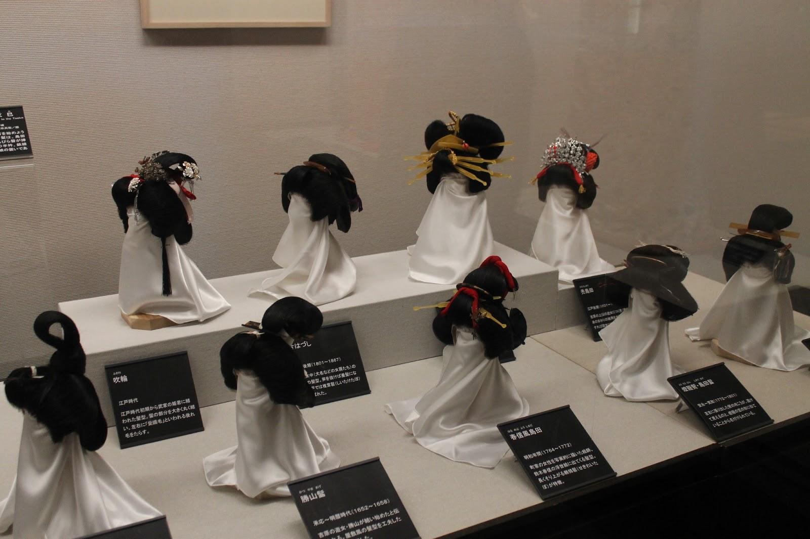 Traditional hair and geisha wigs